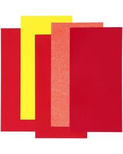 Color Dekor, Rot/Orange/Gelb, 5 Bl. sort./ 1 Pck.