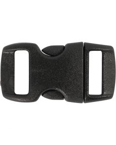 Klick-Verschluß, L: 29 mm, B: 15 mm, Lochgröße 3x11 mm, Schwarz, 4 Stck./ 1 Pck.