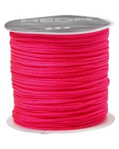 Macramé-Kordel, Stärke: 1 mm, Neonpink, 28 m/ 1 Rolle
