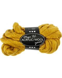 XL-Chunky-Garn aus Polyacryl/Wolle, L: 15 m, Größe mega , Dunkelgelb, 300 g/ 1 Knäuel