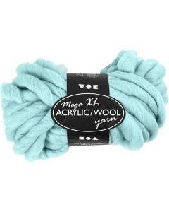XL-Chunky-Garn aus Polyacryl/Wolle, L: 15 m, Größe mega , Türkis, 300 g/ 1 Knäuel
