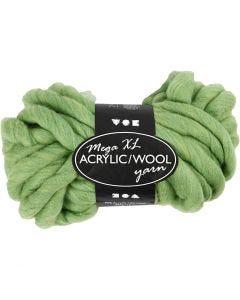 XL-Chunky-Garn aus Polyacryl/Wolle, L: 15 m, Größe mega , Lindgrün, 300 g/ 1 Knäuel