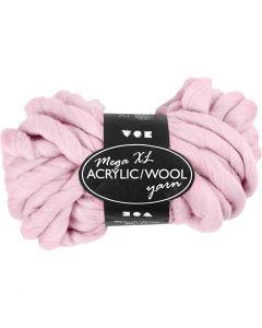 XL-Chunky-Garn aus Polyacryl/Wolle, L: 15 m, Größe mega , Rosa, 300 g/ 1 Knäuel