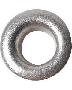Ösen, H: 3 mm, D: 8 mm, Lochgröße 4,8 mm, Silber, 50 Stck./ 1 Pck.
