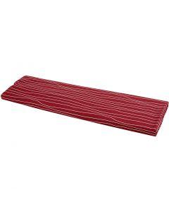 Stoff, B: 145 cm, 140 g, Rot/Weiß, 10 m/ 1 Rolle