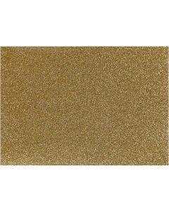 Bügelfolie - Sortiment, 148x210 mm, Glitter, Gold, 1 Bl.