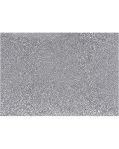 Bügelfolie, 148x210 mm, Glitter, Silber, 1 Bl.