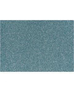 Bügelfolie - Sortiment, 148x210 mm, Glitter, Hellblau, 1 Bl.