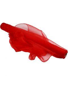 Organzastoff, B: 50 cm, Rot, 10 m/ 1 Rolle