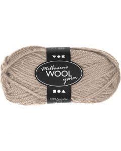 Melbourne Wolle, L: 92 m, Beige, 50 g/ 1 Knäuel