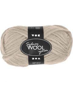 Sydney Wolle, L: 50 m, Beige, 50 g/ 1 Knäuel