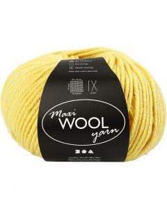 Wolle, L: 125 m, Gelb, 100 g/ 1 Knäuel
