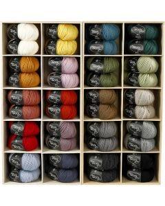 Wolle, L: 125 m, Sortierte Farben, 20x10 Knäuel/ 1 Pck.