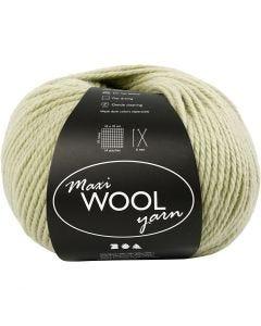 Wolle, L: 125 m, Hellgrün, 100 g/ 1 Knäuel