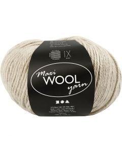 Wolle, L: 125 m, Sand Melange, 100 g/ 1 Knäuel
