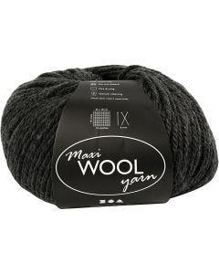 Wolle, L: 125 m, Hellgrau Melange, 100 g/ 1 Knäuel
