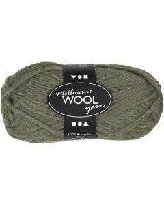 Melbourne Wolle, L: 92 m, Dunkelgrün, 50 g/ 1 Knäuel