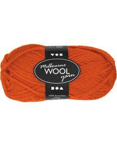 Melbourne Wolle, L: 92 m, Orange, 50 g/ 1 Knäuel