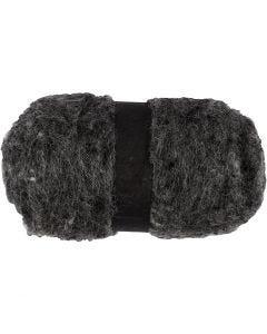 Wolle, kardiert, Naturgrau, 100 g/ 1 Bündl.