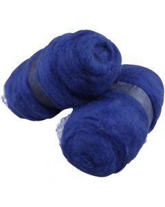 Wolle, kardiert, Königsblau, 2x100 g/ 1 Pck.