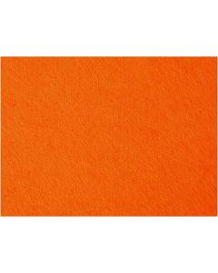 Bastelfilz, 42x60 cm, Stärke: 3 mm, Orange, 1 Bl.