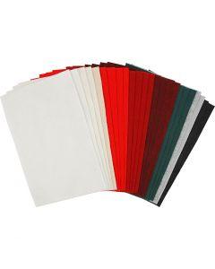 Bastelfilz, 20x30 cm, Stärke: 1,5 mm, 180-200 g, Sortierte Farben, 24 Bl. sort./ 1 Pck.