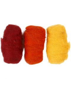 Kardierte Wolle, Pastellgelb (32244), 3x10 g/ 1 Pck.