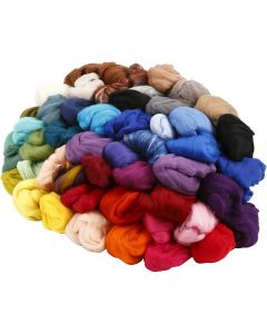 Wolle, Stärke: 21 my, Sortierte Farben, 20x20 g/ 1 Pck.