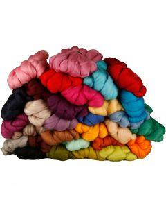 Wolle, Stärke: 21 my, Sortierte Farben, 32x100 g/ 1 Pck.