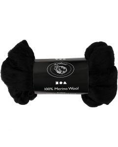 Wolle, Stärke: 21 my, Schwarz, 100 g/ 1 Pck.