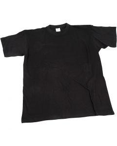 T-Shirt, B: 40 cm, Größe 7-8 Jahre, Rundhalsausschnitt, Schwarz, 1 Stck.