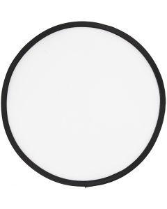 Frisbee, D: 25 cm, Weiß, 1 Stck.
