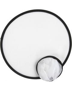 Frisbee, D: 25 cm, Weiß, 5 Stck./ 1 Pck.