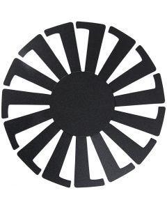 Korbflechtschablone, H: 8 cm, D: 14 cm, Schwarz, 10 Stck./ 1 Pck.