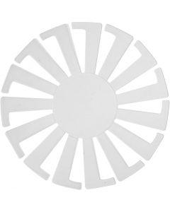 Korbflechtschablone, H: 6 cm, D: 8 cm, Transparent, 10 Stck./ 1 Pck.