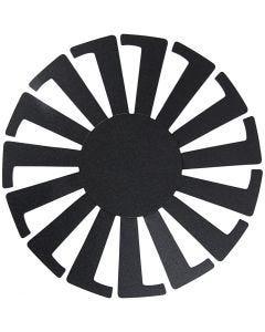 Korbflechtschablone, H: 6 cm, D: 8 cm, Schwarz, 10 Stck./ 1 Pck.