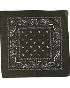 Bedrucktes Bandana-Tuch, Größe 55x55 cm, Olivgrün, 1 Stck.