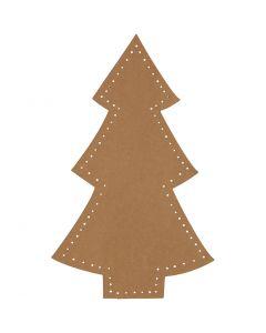 Weihnachtsbaum, H: 18 cm, B: 11 cm, 350 g, Natur, 4 Stck./ 1 Pck.