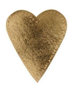 Herz, H: 12 cm, B: 10 cm, 350 g, Gold, 4 Stck./ 1 Pck.