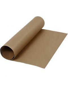 Kunstlederpapier, B: 50 cm, Einfarbig, 350 g, Dunkelbraun, 1 m/ 1 Rolle