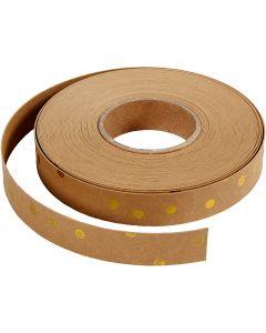 Lederpapierstreifen / Flechtstreifen, B: 15 mm, Stärke: 0,55 mm, Hellbraun, 9,5 m/ 1 Rolle