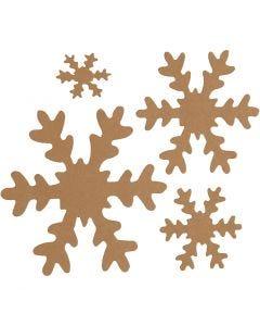 Schneeflocke, D: 3+5+8+10 cm, 350 g, Natur, 16 Stck./ 1 Pck.