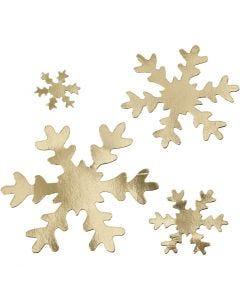 Schneeflocke, D: 3+5+8+10 cm, 350 g, Gold, 16 Stck./ 1 Pck.
