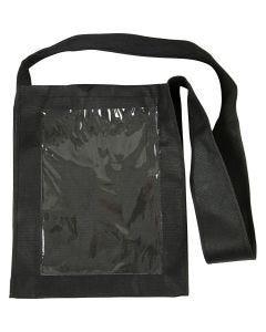Tasche mit Front aus Kunststoff, Größe 40x34x8 cm, Schwarz, 1 Stck.