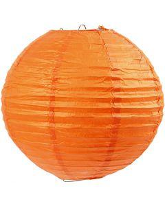 Reispapier-Lampe/-Lampion, D: 20 cm, Orange, 1 Stck.