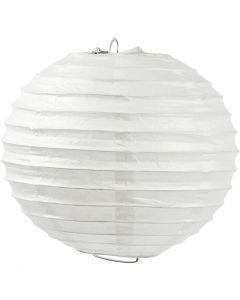 Reispapier-Lampe/-Lampion, Rund, D: 35 cm, Weiß, 1 Stck.