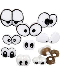 Lustige Augen, Größe 2-3 cm, 9 sort./ 1 Pck.