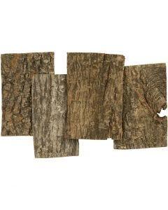 Baumrinde, Größe 9,5x6,5 cm, Dicke 1-4 mm, 340 g/ 1 Pck.