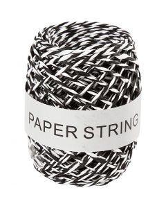 Papierschnur , Stärke: 1 mm, Schwarz/Weiß, 50 m/ 1 Rolle