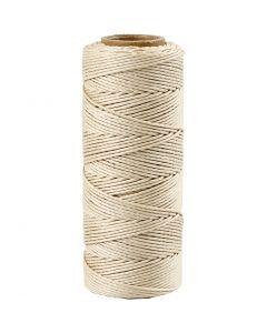 Bambuskordel, Stärke: 1 mm, Naturweiß, 65 m/ 1 Rolle